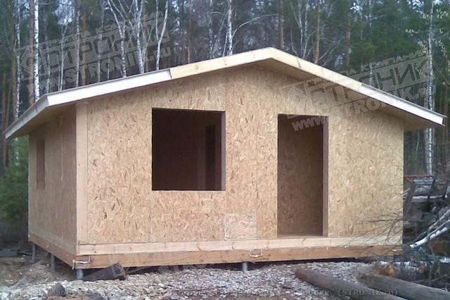 Этапы строительства каркасно-панельного дома из SIP панелей.