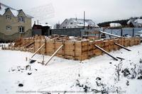 малозаглубленный фундамент для каркасно-панельного дома