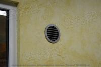 декоративная решетка клапана КПВ в стена каркасного дома