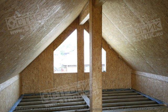 Деревянная мансарда на кирпичном доме своими руками 79
