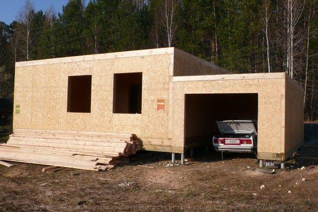 Гараж из СИП панелей - строительство по низким ценам
